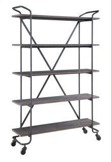 """Emerald Home Quincy 48"""" Bookshelf W/5 Shelves, Antique Grey Ac415-48"""