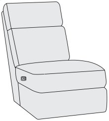Clemens Power Motion Armless Chair