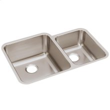 """Elkay Lustertone Classic Stainless Steel 30-3/4"""" x 21"""" x 9-7/8"""", Offset 60/40 Double Bowl Undermount Sink"""
