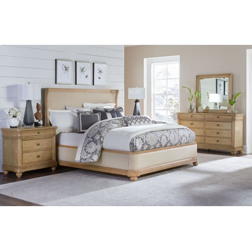 Ashby Woods Upholstered Bed, King 6/6