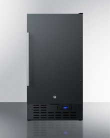 """18"""" Wide Built-in Undercounter All-refrigerator In Black With Digital Thermostat and Front Lock"""