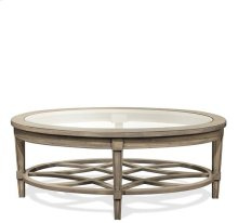 Parkdale Oval Coffee Table Dove Grey finish