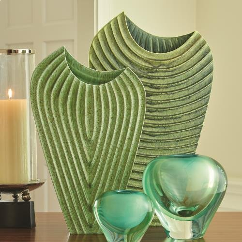 Ripple Vase-Verdi-Med