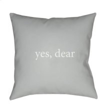 "Yes, Dear QTE-063 20"" x 20"""