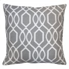 Frances Contemporary Decorative Feather and Down Throw Pillow In Gray Jacquard Fabric Product Image