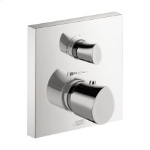 Chrome Starck Organic Thermostatic Trim with Volume Control and Diverter