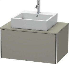 Vanity Unit For Console Wall-mounted, Stone Gray Satin Matt Lacquer
