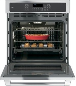 "GE Cafe 27"" Electric Convection Self-Cleaning Single Wall Oven"