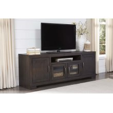 74 Inch Console - Scorched Pine Finish