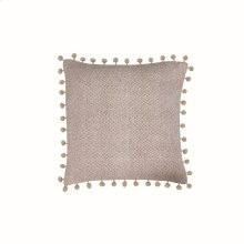 18X18 Hand Woven Lane Pillow Taupe