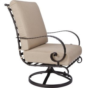 High-back Swivel Rocker Lounge Chair