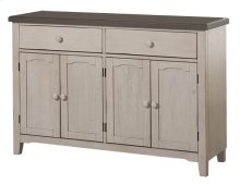 Clarion Server - Distressed Gray Top With Sea White Base