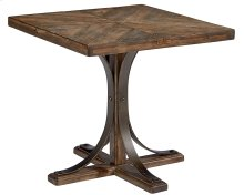 Shop Floor Iron Trestle End Table
