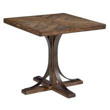 Shop Floor Iron Trestle End Table