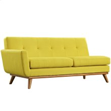 Engage Left-Arm Loveseat in Sunny