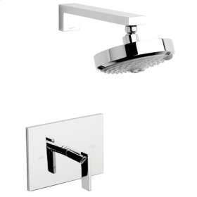 Gloss Black Balanced Pressure Shower Trim Set