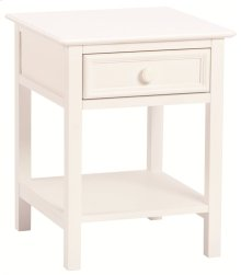 Wakefield 1 Drawer Nightstand white