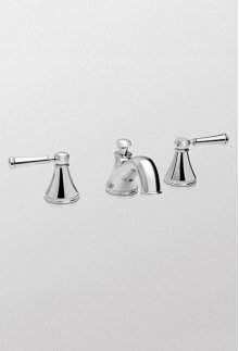 Brushed Nickel Vivian™ Widespread Lavatory Faucet with Lever Handles
