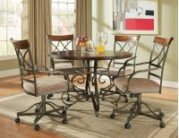 5-Pc. Hamilton Dining Set - (1) 697-413 Dining Table & (4) 697-435 Swivel Arm Chairs Product Image