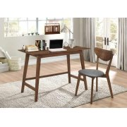 Mid-century Modern Walnut Desk and Chair Set Product Image