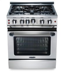 "30"" four burner gas self-clean range w/ 12"" Thermo-GriddleTM + convection - LP"