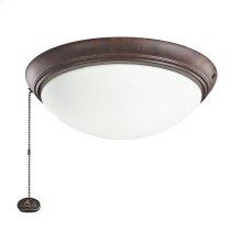 Tannery Bronze LED fan fixture TZ