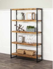 Adler-oak/blk 5 Shelf Bookcase Product Image