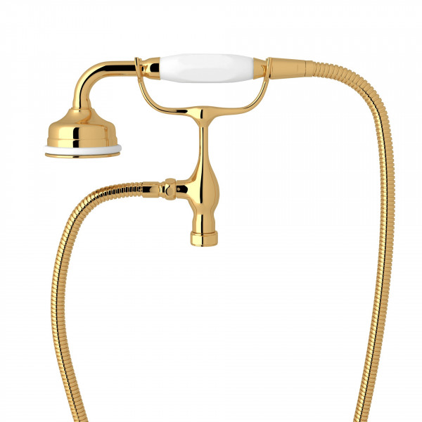 English Gold Perrin & Rowe Edwardian Handshower/Cradle
