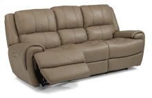 Nance Leather Power Reclining Sofa with Power Headrests