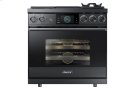 "36"" Pro Dual-Fuel Steam Range, Graphite Stainless Steel, Liquid Propane/High Altitude Product Image"