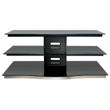Black Finish Flat Panel Audio/Video Furniture