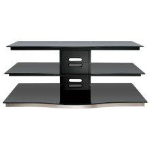 Black Finish Flat Panel Audio/Video Furniture