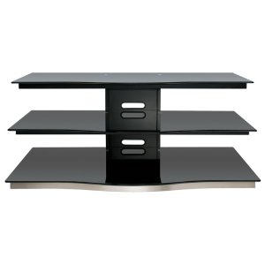 Bell'oBlack Finish Flat Panel Audio/Video Furniture