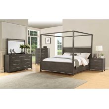 "Katy Queen Canopy Bed Headboard&Footboard, 62""x2""x32"""
