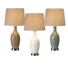 3 pc. ppk. Embossed Vertical Dot Accent Lamp. 40W Max. (3 pc. ppk.)