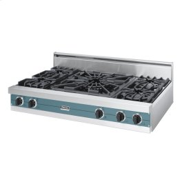"Iridescent Blue 48"" Open Burner Rangetop - VGRT (48"" wide, four burners 24"" wide wok/cooker)"