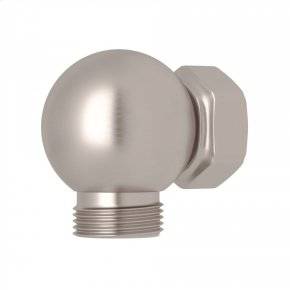Satin Nickel Perrin & Rowe Swivel Outlet And Connector For Exposed Shower Valves