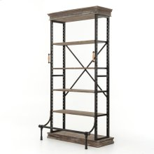 Braxton Single Bookcase-washed Gry/irn