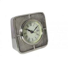 Clock 15x7x15 cm DASH raw nickel