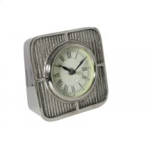 Clock 15x7x15 cm DASH raw nickel