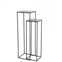Side table S/2 max 35x35x120 cm BOCA raw lead ant-matt black