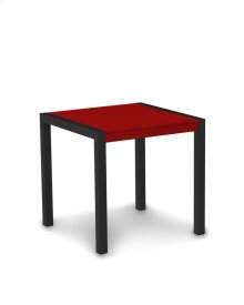 """Textured Black & Sunset Red MOD 30"""" Dining Table"""