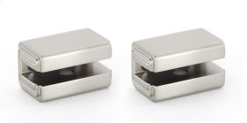 Cube Shelf Brackets A6550 - Satin Nickel