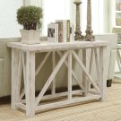 Aberdeen - Sofa Table - Weathered Worn White Finish Product Image