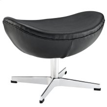 Glove Leather Ottoman in Black