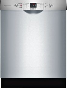 """Bosch ADA 24"""" 300 Series Dishwasher, Recessed Handle, 46 dBA, RackMatic, Stainless (Scratch & Dent)"""