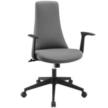 Fount Mid Back Vinyl Office Chair in Gray