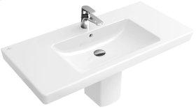 """Vanity washbasin 39"""" Angular - White Alpin CeramicPlus"""