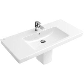 """Vanity washbasin 39"""" Angular - White Alpin"""