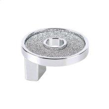 Small Round Knob With Hole Sparkling Swarovski Bright Chrome